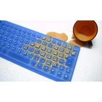 Teclado Flexible Usb Silicona Impermeable Antisuciedad Cntro