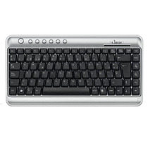 Mini Teclado Omega Kb-2300 (usb/ps2)-silver/black-