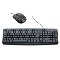 Combo Teclado Y Mouse Optico Usb Con Cable Verbatim