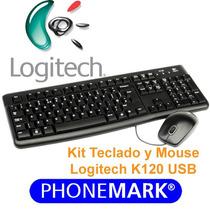 Teclado Y Mouse Logitech Mk120 Usb Negro Español