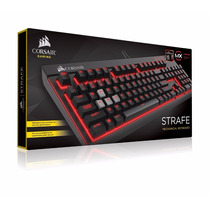 Teclado Corsair Strafe Mx Red Mecanico Gamer - Tricubo