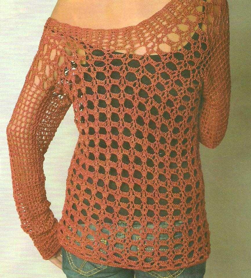 Sweater Tejido A Crochet - Sweater Grey