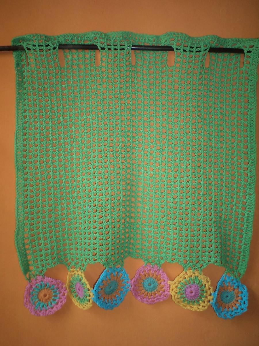Cortinas en crochet tejido cortina crochet imagui - Tejidos de cortinas ...