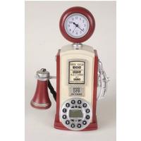 B&f - Telefono Surtidor De Nafta C/reloj Antiguo Vintage