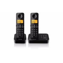 Telefono Inalambrico Philips D2152b/77 Negro Contestador Dúo
