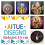 Reloj De Pared Ganesha-om-buda-hindu-espirituales Fabrica!!
