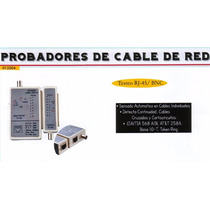 Probador De Cable Red - Bnc Y Rj45