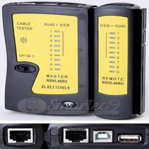 Tester Cable Red Rj45 + Usb + Usb A/b + Probador Con Funda