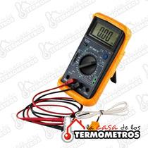 Multimetro Digital Con Capacimetro Mide Temperatura Garantia