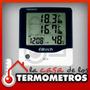 Termóhigrometro Digital Sensor In/out De Temperatura Y Reloj
