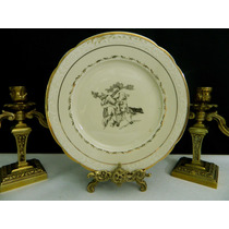 Plato Decorativo Porcelana Europea Danmark Con Relieve