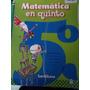 Libro Matematica En 5°. Editorial Santillana
