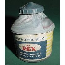 Antigua Frasco Tintero Porta Pluma Tintas Rex Bakelita