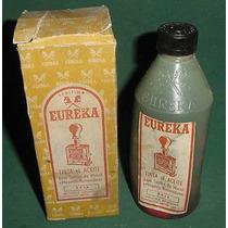Antigua Botella Tinta Eureka Aceite Maquinas Numerar Roja
