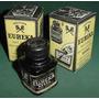 Antigua Caja Tinta Eureka Para Sellos Goma Color Negro