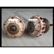 Tiradores Ceramica Redondo Muebles Precio X Unidad
