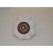 Perillas Tirador Ceramica Grande Blanco