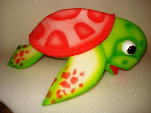 Titeres En Goma Espuma: Tortugas Grandes Acuaticas Juguetes - $ 85 ...