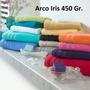 Arco Iris Juego Toalla Y Toallon Liso 450 Gr. 100% Algodon