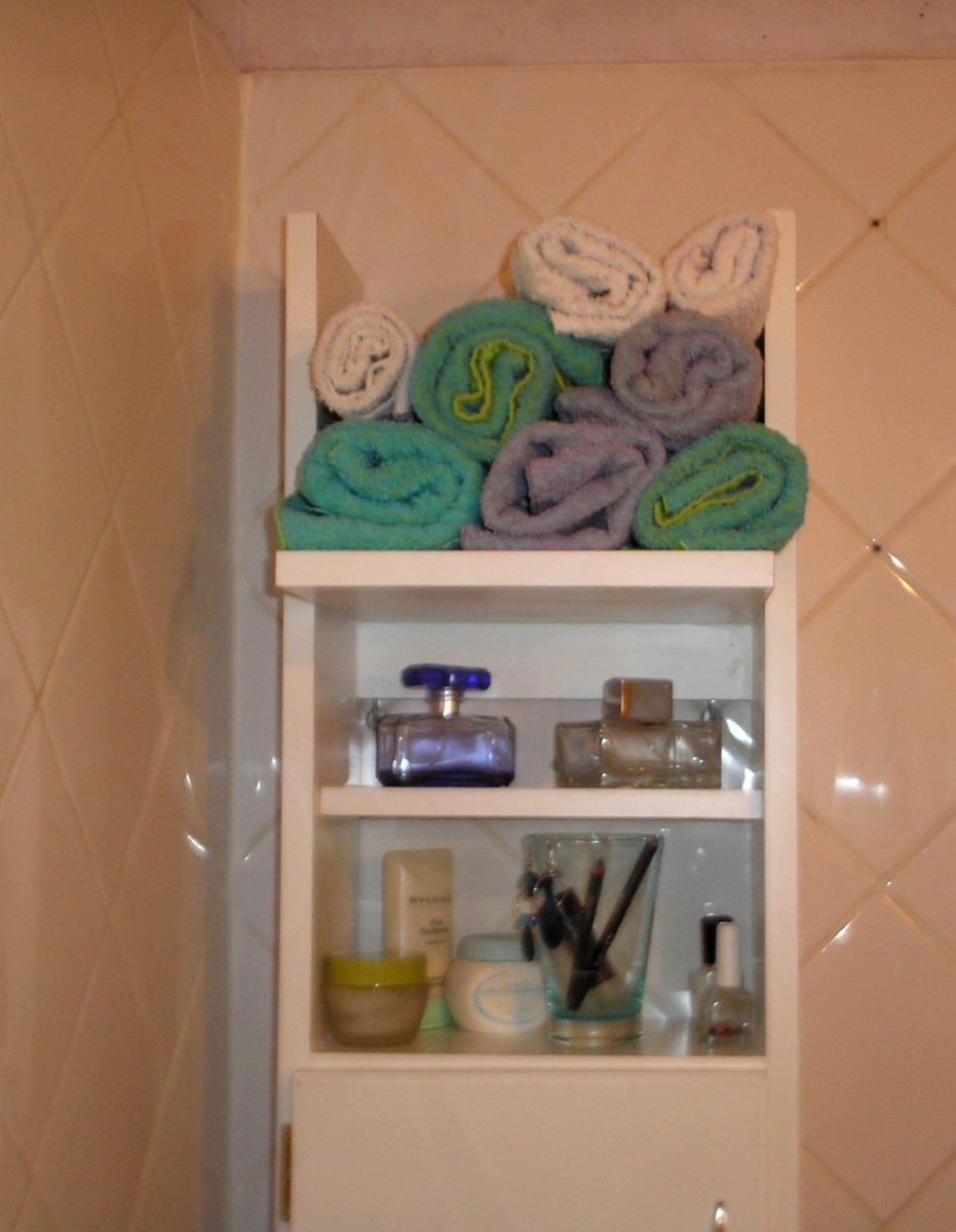 Mueble para el bano para guardar toallas for Estante porta toallas para bano