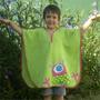 Toallón Poncho Para Niños (extraterrestre)