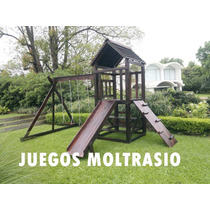 Torres C/ Toboganes Y Trepadores - Todo En Madera -