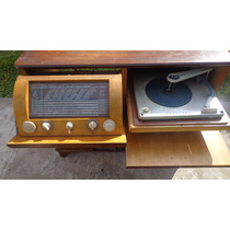 Combinado Tocadisco Antigua Radio Mueble Vidrieras Locales