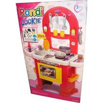Cocina Cookie Rondi Con Horno Y 22 Accesorios Juguete Nena