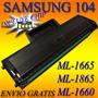 Recarga Toner Samsung Ml 1665 1865 Scx 3200 3205w 104 D104