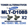 Toner Samsung Mlt-108 Ml 1640 Generico Lleva 2 Unidades
