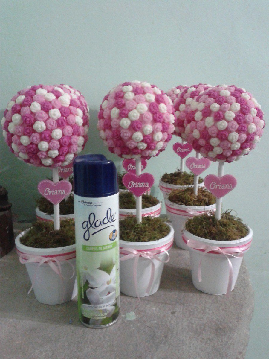 Topiarios para baby shower imagui for Centro de mesa baby shower