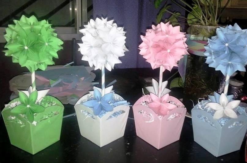 Origami Decoracion De Mesa ~ topiario flores de papel origami centro de mesa artesanal 284301