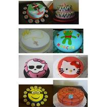 Torta Decorada Infantil/adulto 2kg, Cumpleaños,bautismos