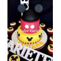 Torta Mickey, Minnie, Sapo Pepe, Jake El Pirata, Cars, Kitty