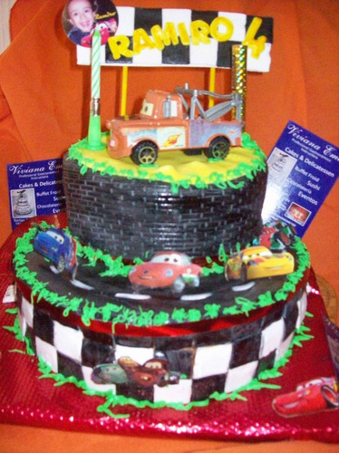 Baño Para Torta Infantil:Torta Infantil Cars Pictures to pin on Pinterest