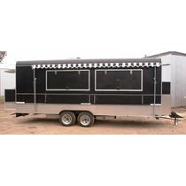 Trailer Gastronómico Americano 6mts, Food Truck Full Inox Pr
