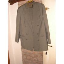 Excelente Traje Pantalon Y Saco Maluan Verde Talle 49