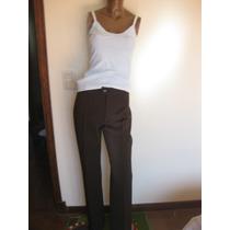 Traje De Vestir De Mujer Marron Pantalon + Blazer Talle 44
