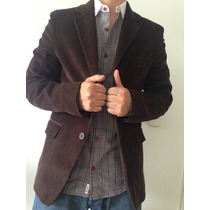 Saco De Corderoy Airborn Chocolate Talle 50 Classic Fit
