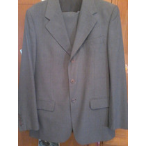 Ambo Traje Daniel Hechter Gris Talle 50 Impecable