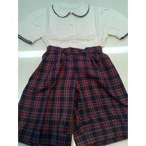 Conjunto Bermuda Short Pantalon Camisa Para Niños Talle 6