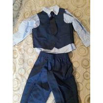 Conjunto Pantalon Chaleco Camisa Corbata Nuevo Eeuu Bautismo