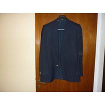 Saco Hombre Azul Derecho T/50 (dos Botones Plateados).