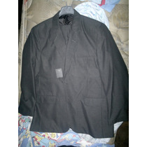 Ambo Traje Negro Con Lineas Grises Marca Furest Premium