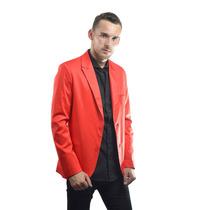 Saco Sport Entallado Color Rojo - Relax Multimarcas