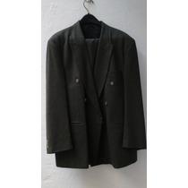 Traje De Hombre Ambo Saco + Pantalón Talle 42 Verde Oscuro