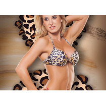 Bikini Malla Corpiño Armado Leopardo Animal Print Cocot T 90