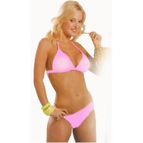 Malla Bikini Conjunto Traje De Baño Corpiño Triangulo Push