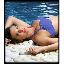 Malla Bikini Marcela Kaury Azul Mora Talle 95