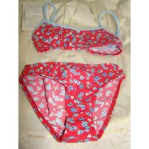 Malla Traje De Baño 2 Piezas Bikini Niñas Talle 6